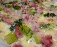 Gratin choux-fleur, brocoli, pomme de terre, jambon