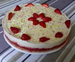 Cheesecake glacé à la fraise
