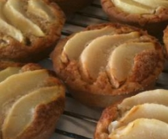 Tartelettes aux poires amandines