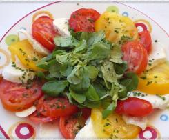 Rosace de tomates au basilic