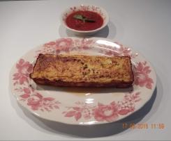 Terrine de courgette et sa sauce au basilic
