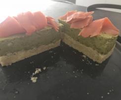 Cheesecake saumon & petits pois