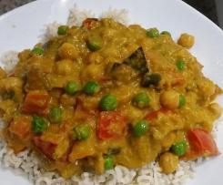 Curry de pois chiches végétaliens à la noix de coco