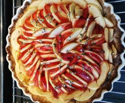 Tarte cookie/pommes/fraises