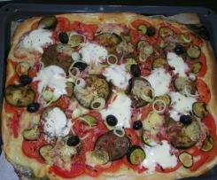 Pizza express aux légumes