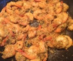 Crevettes sautées d'inspiration thaïlandaise