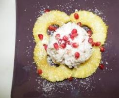 Ramequins de risotto fleuris à l'ananas