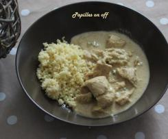 Poulet à la pâte de curry