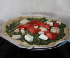 Pizza aux épinards {Recette illustrée}