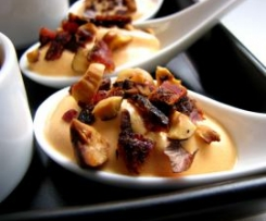 Cuillères apéritives poivron noisette