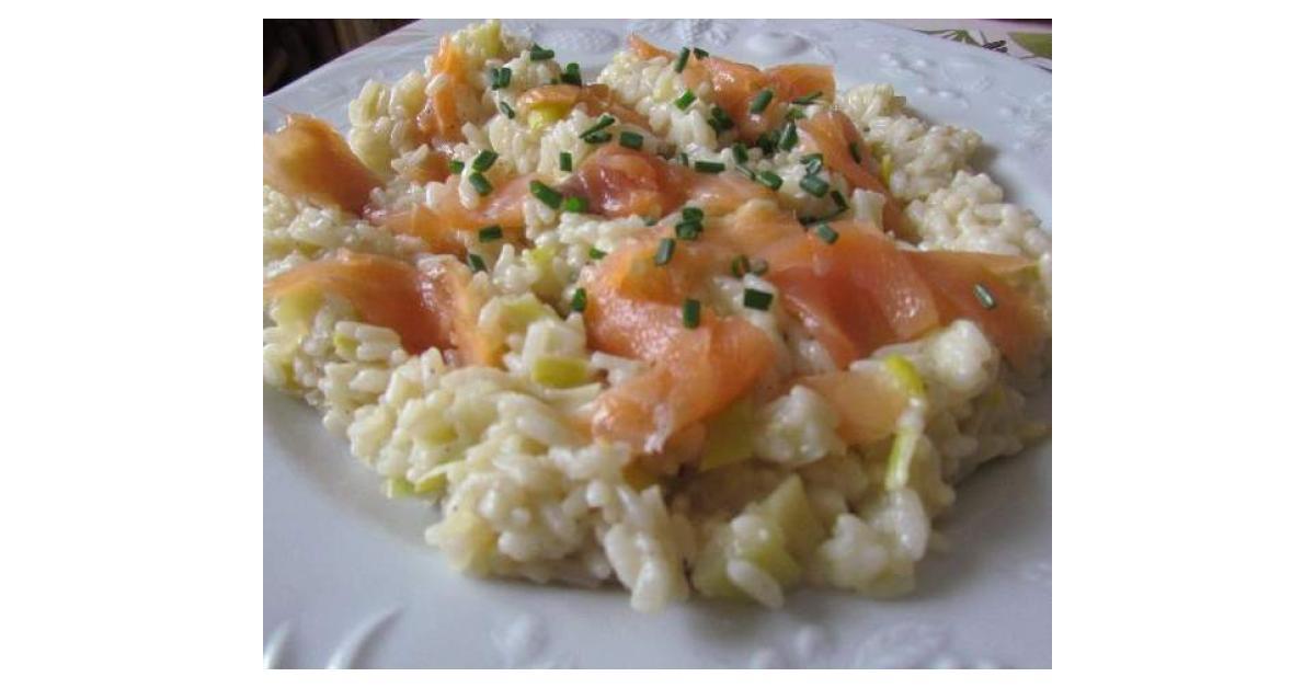 Risotto poireau et saumon fum par anne legoupil ma - Espace cuisine thermomix ...