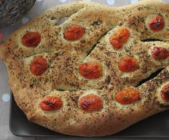 Fougasse aux tomates cerises et herbes de provence