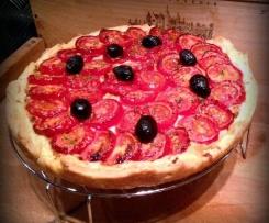 Tarte aux tomates, amandes et parmesan de Yotam Ottolenghi