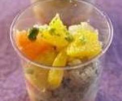 saumon, agrumes et quinoa