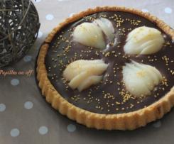 Gâteau poires et ganache chocolat