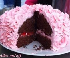 Rose cake à la fraise