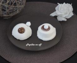 Mini entremets vanille et crème de marrons