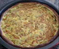 Tarte rhubarbe pâte levée