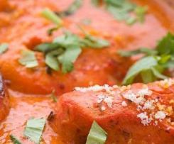 Poulet tandoori , légume et sauce