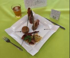 Roulade de porc aux abricots et sa compotée d'endives sauce Ch'ti Spéculoos