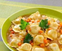 Raviolis sauce Carottes Curcuma