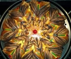 Brioche étoilée à la pâte à tartiner ou au chocolat