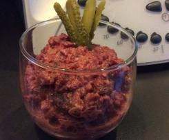 Salade betterave et cornichon