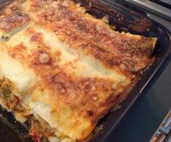 Lasagnes au thon basquaise