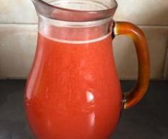 Citronnade maison à la fraise