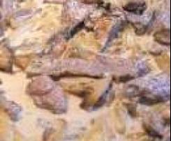 Bœuf Strogonoff aux pommes de terre