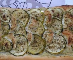 Pizza Courgettes/Chèvre et Basilic