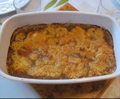 Crumble d'aubergine et mozzarella