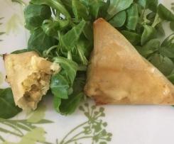 Samoussas crevettes au curry