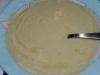 Soupe de pomme de terre au conté et huile de noix