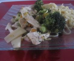 Nouilles sautées au brocolis