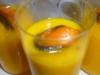 Verrines crème de potiron gingembre et moule d'Espagne
