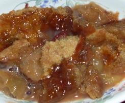 crumble aux croques poux (ou groseilles à maquereaux)