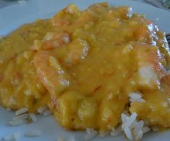 bobo de crevettes (crevettes coco manioc à la brésilienne)