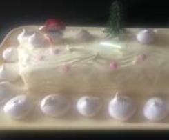 Buche framboises/chocolat blanc