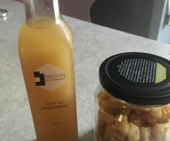 Sirop de gingembre et gingembre confit