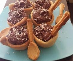 Mousse au chocolat en tasse sablée à croquer