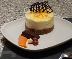 MINI CHEESECAKE ORANGE ET SON CROQUANT CHOCO NOISETTES