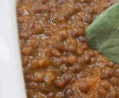 Lentilles cuisinées (sans viande)