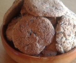 Cookies sans gluten châtaigne noisette choco