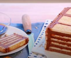 Terrine aux Petits-Beurre, chocolat et pâte à tartiner noisettes