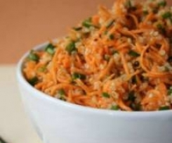 Salade quinoa pommes, carottes fenouil. (sans GLO, vegan)