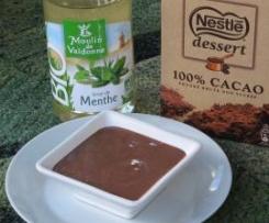 Petit pot de crème chocolat/menthe