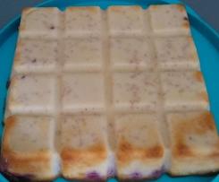 Gâteau magique aux framboises/coco
