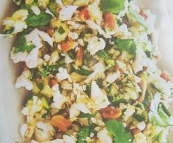 salade de choux fleurs et courgettes