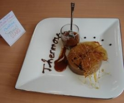 Mousse Chocolat, Gelée d'Oranges aux Epices et ses 2 Caramels aux Zestes de Citron